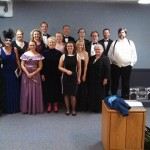The cast of Die Fledermaus at the Shedd Institute