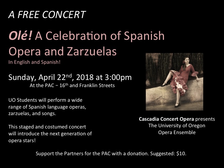 Olé! A Celebration of Spanish Operas, Zarzuelas, and Songs Featuring